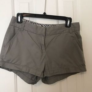 JCrew Size 2 Grey Chino Shorts